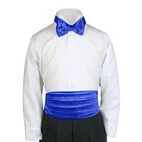 Unotux 23 Color 2pc Boys Satin Cummerbund and Bow Tie Sets from Baby to Teen (S-XL:(0-24 months), Royal Blue)