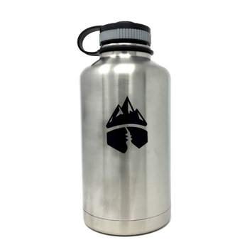 Campsite Essentials 64oz Wide Mouth Insulated Bottle, Brushed Stainless
