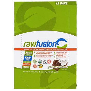 San Rawfusion Protein Bar Chocolate Coconut Chunk -- 12 Bars