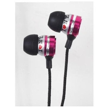 Impecca I Love Ny EB301P Eb301 Metal Stereo Earbuds - Pink