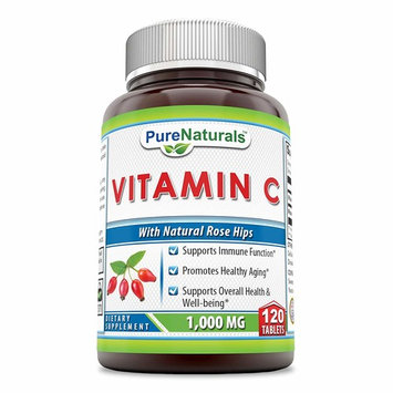 Pure Naturals Vitamin C with Rose Hips, 1000 Mg, Tablets -Supports Immune Function, Overall Health & Well-Being* -Promotes Healthy Aging*