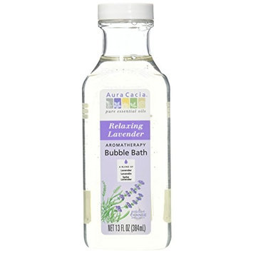 Aura Cacia Aromatherapy Bubble Bath, Lavender, (Pack of 2) With Lavender Oil and Lemon Balm Leaf Extract, 13 fl. oz.