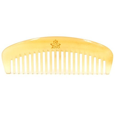 Handmade Anti Static Wide Tooth Natural Horn Massage Hair Comb (Sheep Horn) 5.3