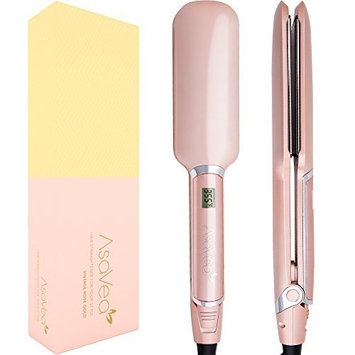 AsaVea Professional Ceramic Hair straightener,Flat Iron with Advanced Infrared Technology Cause Less Damage, Heats Fully In 90 Seconds, Shuts Off Automatically, Styles Your Hair With No Burning
