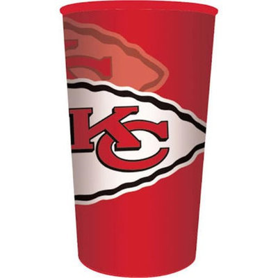 Hoffmaster Group 119516 20 by 1 Count Kansas City Chiefs 22 oz Plastic Favor Cup - Case of 20