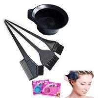 Atb 4 Pc Salon Hair Coloring Dyeing Kit Dye Brush Comb Bowl Tint Tool Kit Colors New