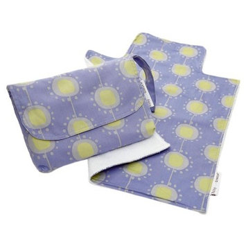 Ruby and Ginger Nappy Purse with Travel Change Mat (BLUE)