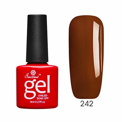 ❀Jinjiums nail art❀, Caramel 8ML Gel Elegant lady Necessity Nail Polish Nail Art Nail Gel Polish UV LED Gel Polish Permanent Suit for beginner (C) : Beauty