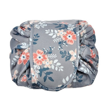 Portable Drawstring Cosmetic Bag Large Capacity Lazy Travel