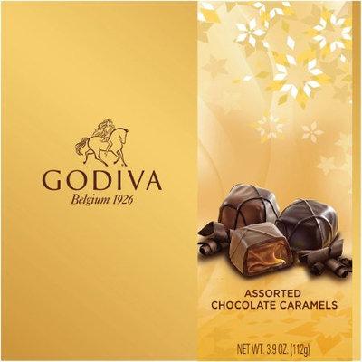 Yildiz Holding A.s. Godiva Assorted Chocolate Caramels Holiday Gift, 3.9 oz