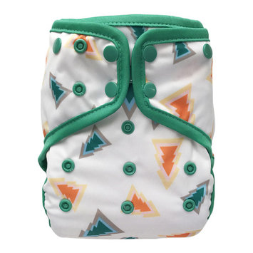 EcoAble Baby Waterproof PUL Cloth Diaper Cover AI2, Snaps (Size 2 / 15-35lb, Forest)