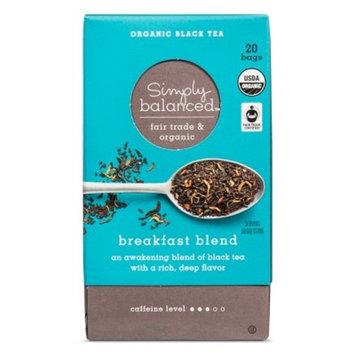 Breakfast Blend Organic Black Tea - 20ct - Simply Balanced™
