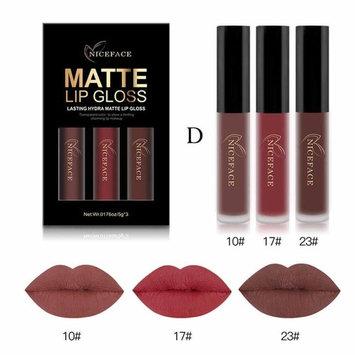 3Pcs Matte Lipstick Fashion Long Lasting Display Waterproof Liquid Lipstick Cosmetic Sexy Lip Gloss Kit by Staron