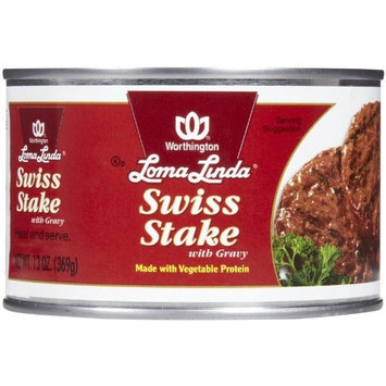 Loma Linda Swiss Steak with Gravy - 13 oz - 6 Pack