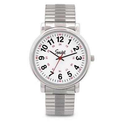 Speidel Medical Watch, White Face - Stainless Steel