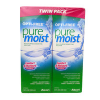 Opti-Free Pure Moist Multi-Purpose Disinfecting Solution, Twin Pack - 10 Oz, 2 Ea