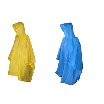 totes ISOTONER Unisex Rain Poncho with Hood (Pack of 2), Blue/Yellow