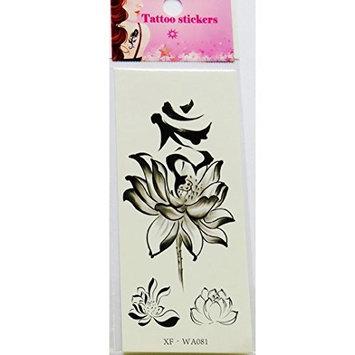 Nail Art,Jinjin Waterproof Temporary Tattoos 3D Butterfly Flower Fake Tattoos Sticker Nail Decoration