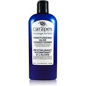 Carapex Aloe Moisturizing Conditioner, Fragrance Free for Color Treated & Damaged Hair, with Natural Proteins, Hemp Oil, Coconut Oil, Sulfate Free, Paraben Free, Silicon Free, Promotes Volume, 8 oz