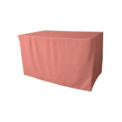LA Linen TCpop-fit-48x24x30-RoseP79 1.67 lbs Polyester Poplin Fitted Tablecloth Dusty Rose