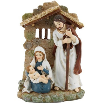 Xinyuan Arts & Crafts Co., Ltd HOLIDAY TIME HOLY FAMILY STATUETTE, 3.5 INCH