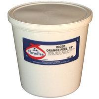Paradise Diced Orange Peel 1/4 Inch, 10 Pound Tub
