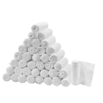 FlexTrek Premium 36-Pack 3 Inch Conforming Stretch Gauze Bandage Rolls - Latex Free - 3