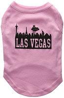 Mirage Pet Products 5168 MDLPK Las Vegas Skyline Screen Print Shirt Light Pink Med 12