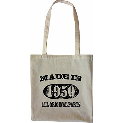 Mister Merchandise Tote Bag Made in 1950 All Original Parts 65 66 Shopper Shopping , Color [Black]