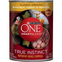 PURINA ONE® SmartBlend True Instinct Classic Ground with Real Turkey & Venison Dog Food