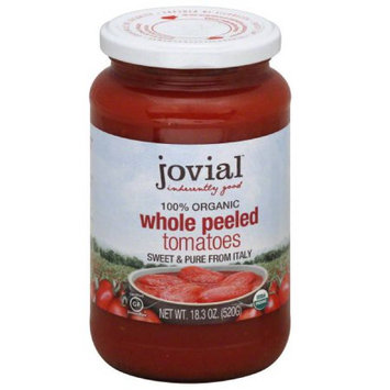 Jovial Tomatoes, Whole Peeled, Organic, 18.3 Ounce (Pack of 3)
