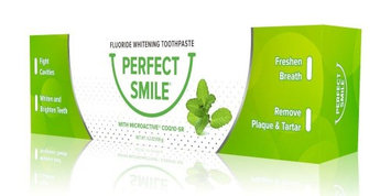 Perfect Smile Fluoride Toothpaste Quality of Life Labs 4.2 oz Tube