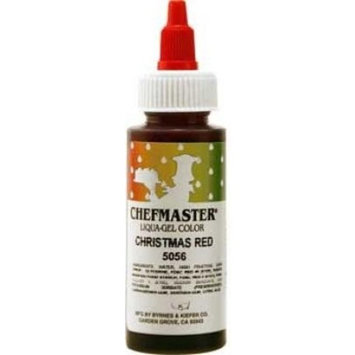 Chefmaster Liqua-Gel Food Color 2.3 Ounce - Christmas Red