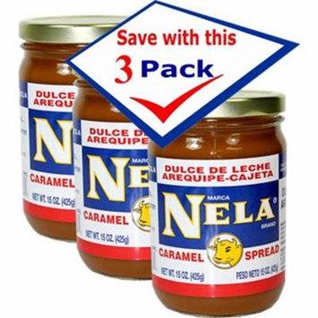 Milk caramel spread by Nela 15 Oz Jar Pack of 3