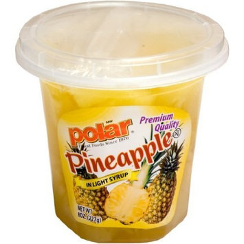 Polar Sliced Fruit Cup, Pineapple, 8 Oz