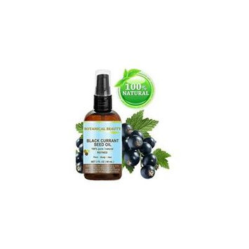 black currant seed oil. 100% pure / natural / undiluted / refined cold pressed carrier oil. 2 fl.oz. - 60ml. for skin, hair, lip and nail care. one of the richest in gamma-linolenic acid, omega 3, 6 a