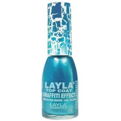 Layla Top Coat Graffiti Effect