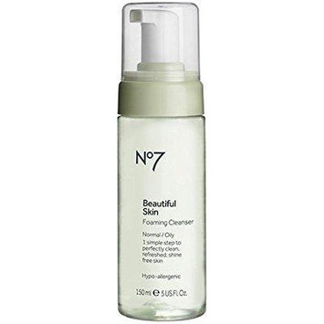 boots no7 beautiful skin foaming cleanser - normal / oil