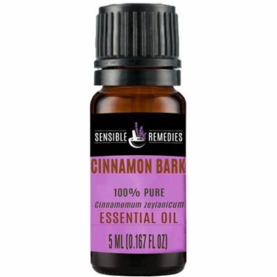 Sensible Remedies Cinnamon Bark 100% Therapeutic Grade Essential Oil, 5 mL (0.167 fl oz)