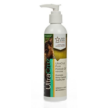 UltraCruz Canine Pure Pollock Oil Supplement for Dogs, 8 oz.