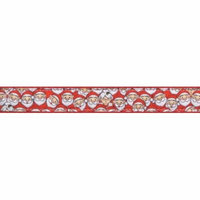 Country Brook Design® 3/4 Inch Where's Merry Ribbon Dog Leash - 4 Foot