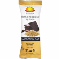 Paleo Dark Chocolate Quinoa High Protein Bars - Gluten-Free, Dairy-Free, and Non-GMO Certified - Vegan, Raw and Kosher - Kids Safe Snack - Clean fuel for athletes