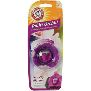 Arm & Hammer AH8800TO Vent Clip Blossom Air Freshener - Tahiti Orchid Pack of 4