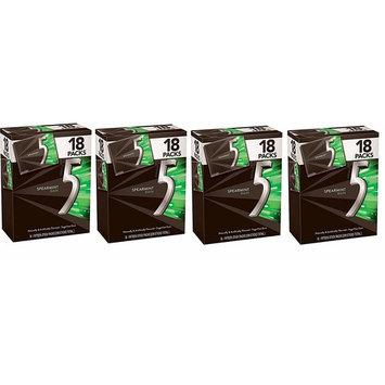 5 Gum Spearmint Rain Sugarfree Gum, Bulk 18 packs (Fоur Расk)