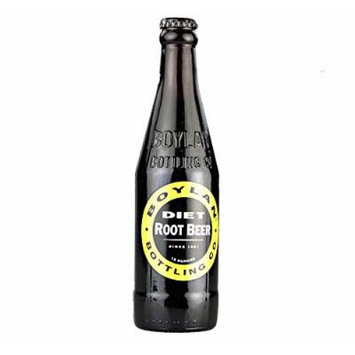 Boylan Diet Root Beer Soda 12 oz. (24 Bottles)