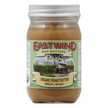 Eastwind Smooth Organic Sea Salt Peanut Butter, 16 OZ (Pack of 6)