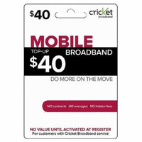 (Email Delivery) Cricket Broadband $40 Monthly Payment, 3G High Speed Wireless Internet