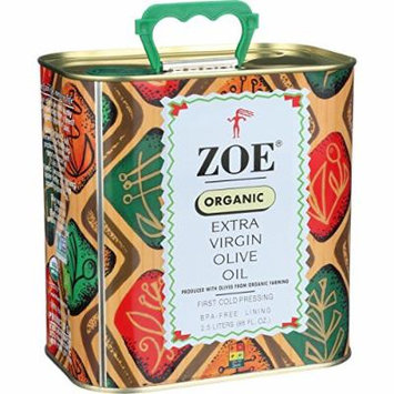Zoe Organic Olive Oil - Organic extra virgin olive oil - 88 oz - Produced with Olives from Organic Farming - GMO Free