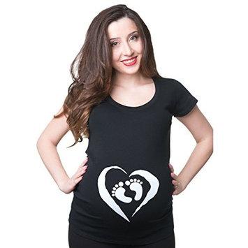 Maternity Top Birth Announcement T-Shirt X-Large Black