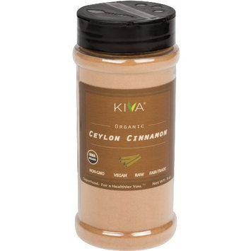 Kiva Organic Ceylon Cinnamon Powder,Freshly Grounded, (1/2 POUND, SNAP-LID Bottle - JUMBO SIZE) - SALE PRICE!